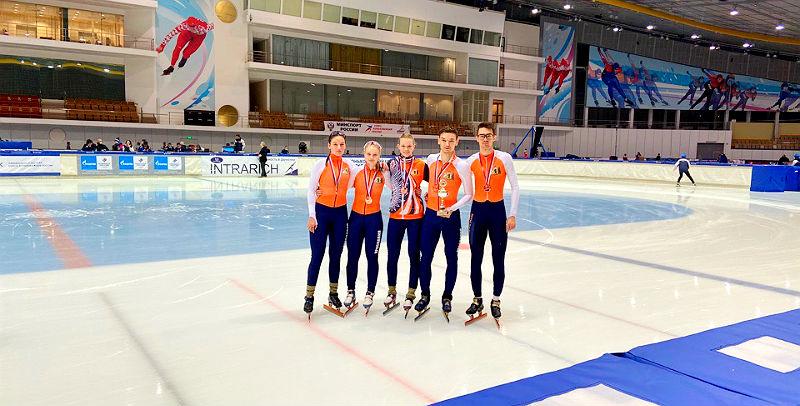 Бронзу чемпионата России взяли рыбинские шорт-трекисты