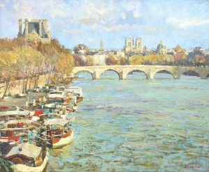 Париж весна х.м. 75х90 2011 год