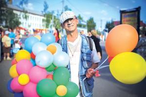 мужичок с шариками