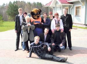 В сборе и с медведем