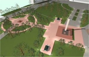 Мемориальный комплекс «Огонь Славы» Перспективный вид 2
