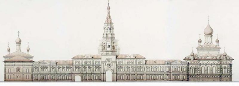 11_Чертеж восстановленного Софийского монастыря работы архитектора Анастасии Тархановой