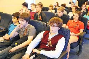 учащиеся московского лицея на презентации