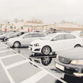 Открытие новой парковки и памятного знака