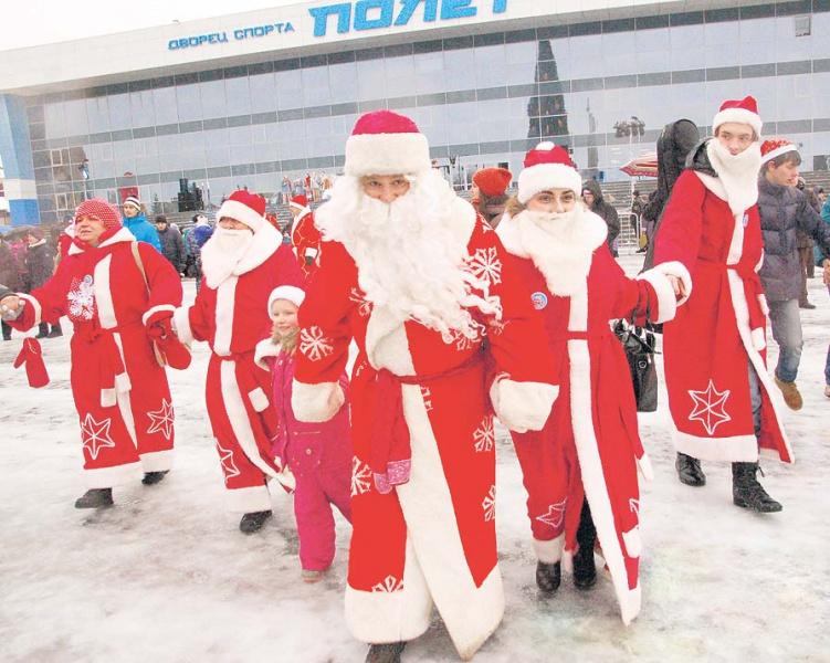 Рыбинцы постят в социальных сетях фотографии НаШествия Дедов Морозов