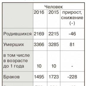 Рыбинск в 2016 году: статистические итоги