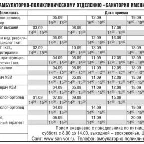 Новости ЗАО «Санаторий имени Воровского»