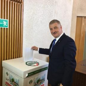 Глава Рыбинска Денис Добряков проголосовал на выборах президента