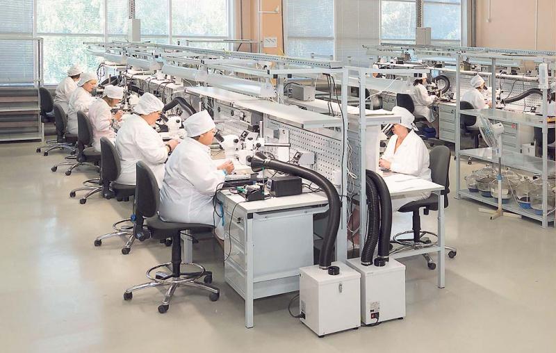 Участок монтажа изделий на основе микросборок