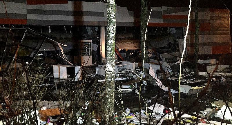 ВЯрославской области рухнула витрина супермаркета: ЧПвРыбинске