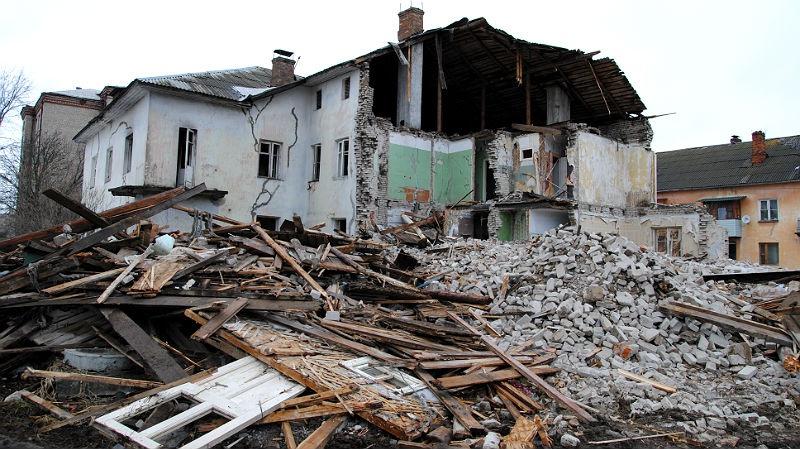 снос дома в Рыбинске