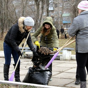 Субботник в Рыбинске начался