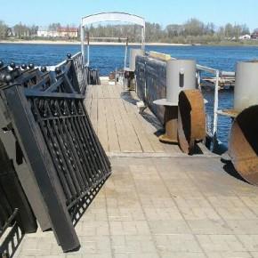 Работы на причале в Рыбинске продолжаются
