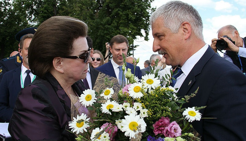 Денис Добряков и Валентина Терешкова