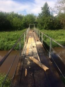 ремонтируют мост