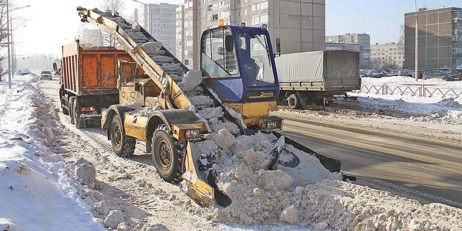 Уборка снега средствами малой механизации